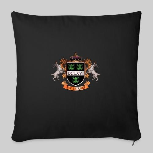 "Satanic Heraldry - Coat of Arms - Throw Pillow Cover 17.5"" x 17.5"""