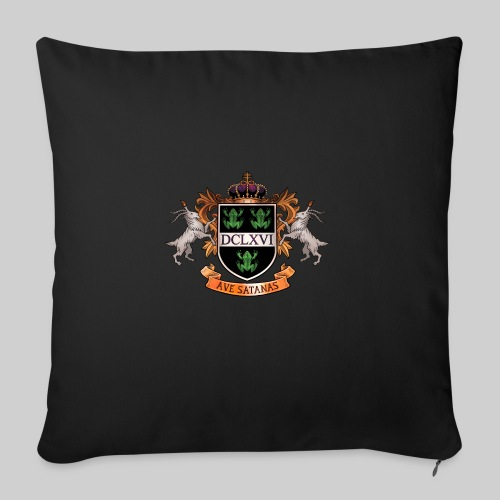 "Satanic Heraldry - Coat of Arms - Throw Pillow Cover 18"" x 18"""