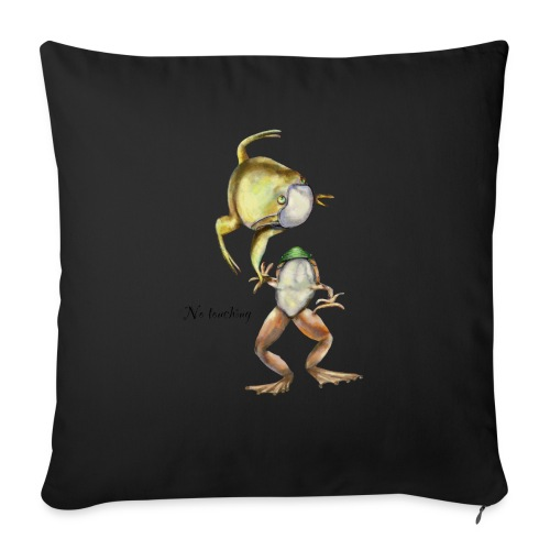 """Two frogs - Throw Pillow Cover 17.5"""" x 17.5"""""""