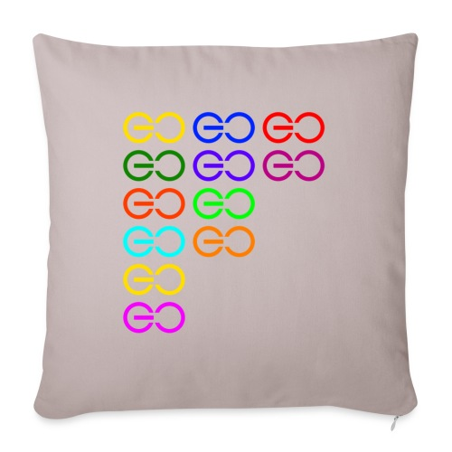 "GOGOGO multi color - Throw Pillow Cover 17.5"" x 17.5"""
