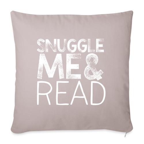 "Snuggle Me & Read Teacher Pillow Classroom Library - Throw Pillow Cover 17.5"" x 17.5"""