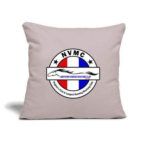 """Circle logo on white with black border - Throw Pillow Cover 17.5"""" x 17.5"""""""