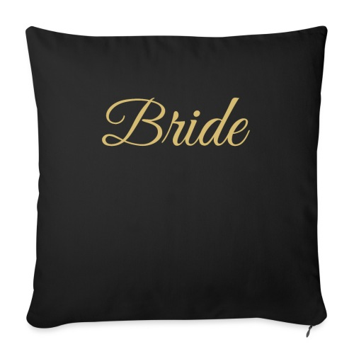 """Bride Engagement Wedding - Throw Pillow Cover 18"""" x 18"""""""