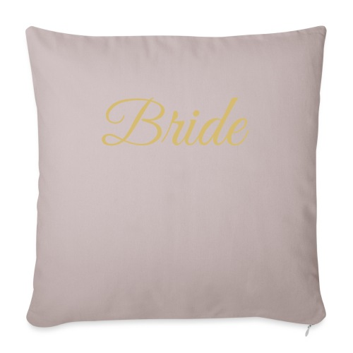 "Bride Engagement Wedding - Throw Pillow Cover 18"" x 18"""