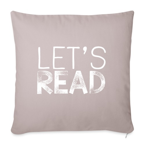"Let's Read Teacher Pillow Classroom Library Pillow - Throw Pillow Cover 17.5"" x 17.5"""