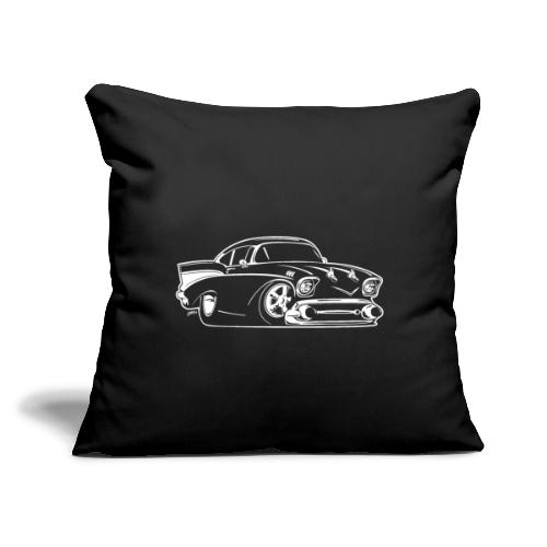 "Classic American Hot Rod Cartoon - Throw Pillow Cover 17.5"" x 17.5"""