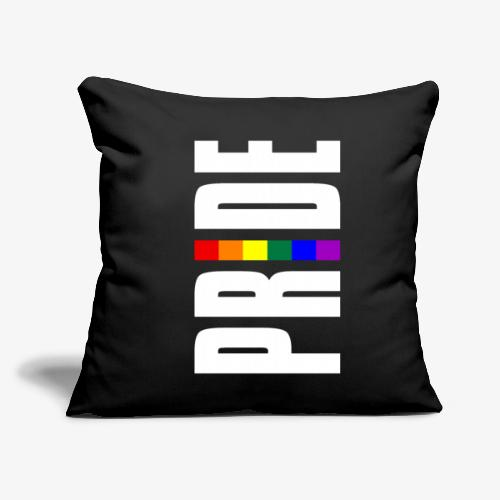 """Vertical Pride with LGBTQ Pride Flag - Throw Pillow Cover 17.5"""" x 17.5"""""""