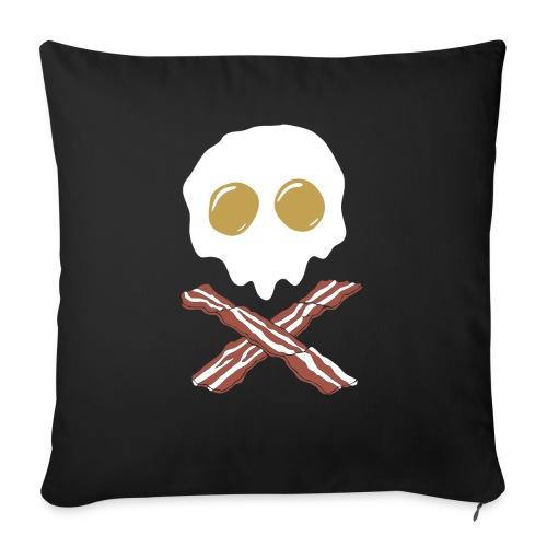 """Breakfast Skull - Throw Pillow Cover 17.5"""" x 17.5"""""""