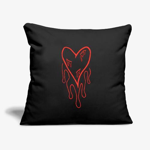 """bleeding heart - Throw Pillow Cover 18"""" x 18"""""""