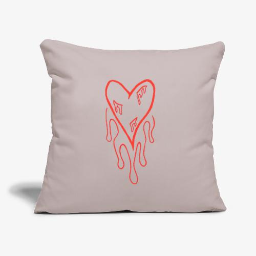 """bleeding heart - Throw Pillow Cover 17.5"""" x 17.5"""""""