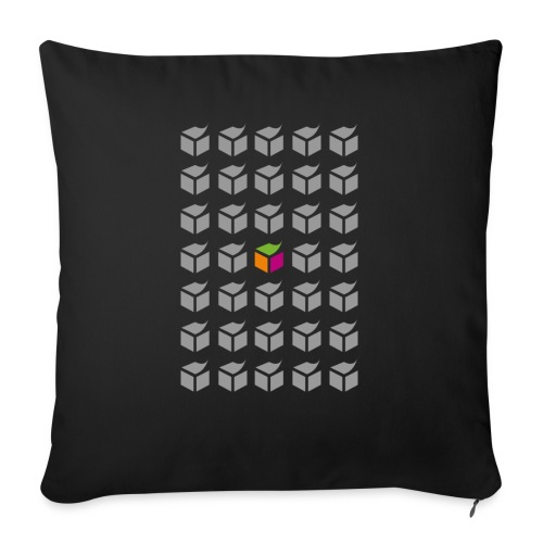 "grid semantic web - Throw Pillow Cover 17.5"" x 17.5"""