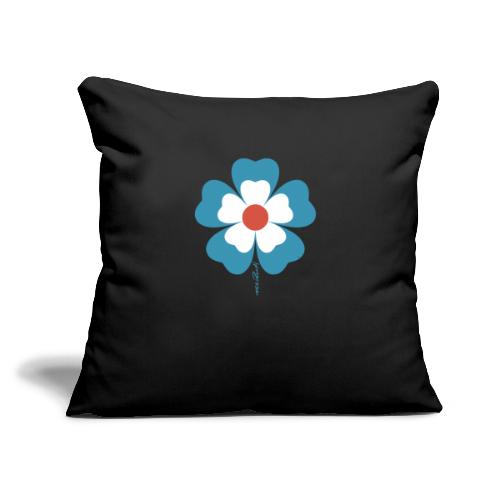 "flower time - Throw Pillow Cover 17.5"" x 17.5"""