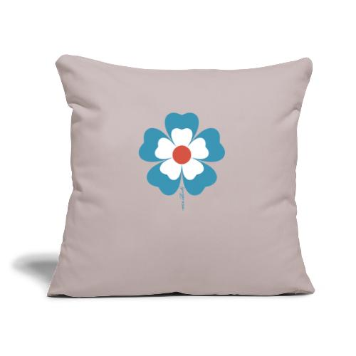 """flower time - Throw Pillow Cover 17.5"""" x 17.5"""""""