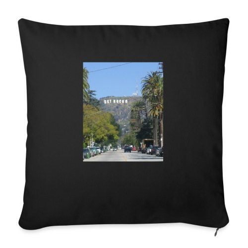 "RockoWood Sign - Throw Pillow Cover 18"" x 18"""