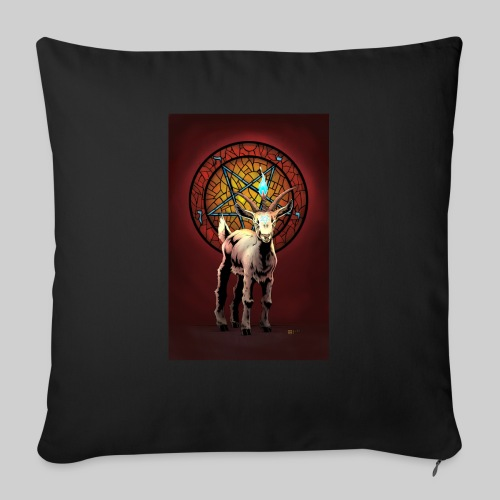 """Baby Baphomet - Throw Pillow Cover 18"""" x 18"""""""