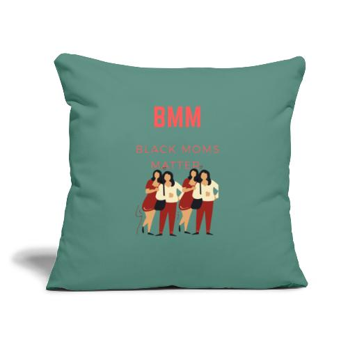 "BMM wht bg - Throw Pillow Cover 17.5"" x 17.5"""