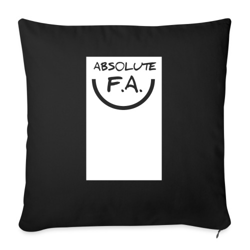"Absolute FA smiley - Throw Pillow Cover 18"" x 18"""