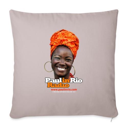 "Paul in Rio Radio - Mágica garota - Throw Pillow Cover 17.5"" x 17.5"""