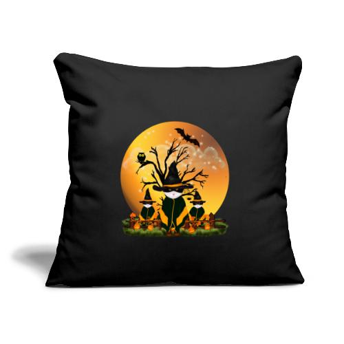 """Happy Halloween with 3 masked cats - Throw Pillow Cover 17.5"""" x 17.5"""""""