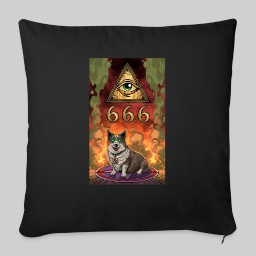 """Satanic Corgi - Throw Pillow Cover 17.5"""" x 17.5"""""""