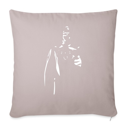 "Rubber Man Wants You! - Throw Pillow Cover 17.5"" x 17.5"""