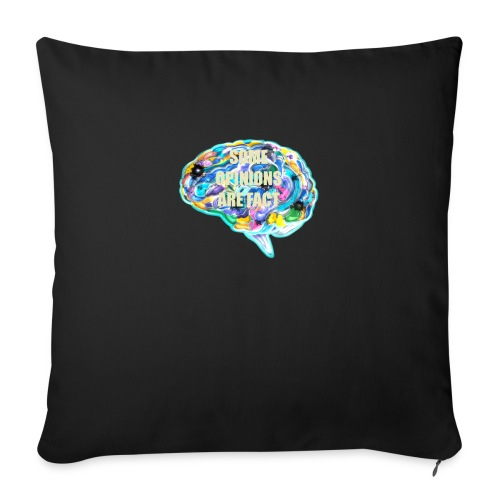 "brain fact - Throw Pillow Cover 17.5"" x 17.5"""
