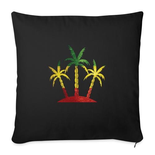 "Palm Tree Reggae - Throw Pillow Cover 18"" x 18"""