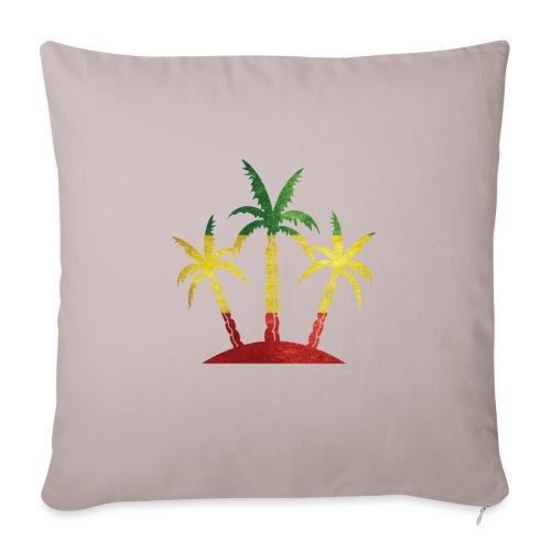"Palm Tree Reggae - Throw Pillow Cover 17.5"" x 17.5"""