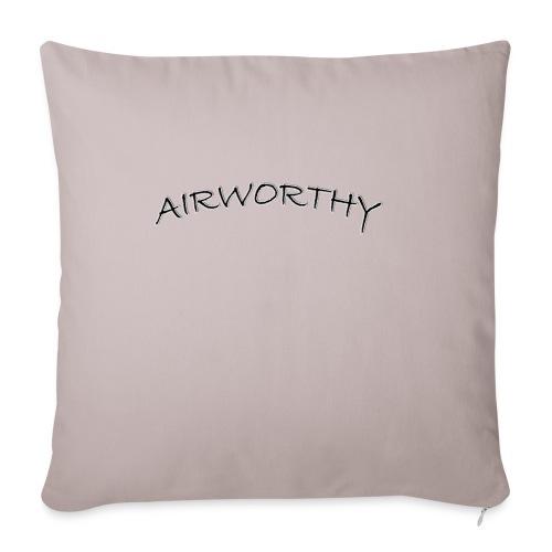 "Airworthy T-Shirt Treasure - Throw Pillow Cover 17.5"" x 17.5"""