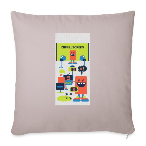"""iphone5screenbots - Throw Pillow Cover 17.5"""" x 17.5"""""""