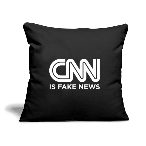 "CNN Is Fake News - Throw Pillow Cover 18"" x 18"""