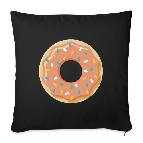"Donut - Throw Pillow Cover 17.5"" x 17.5"""