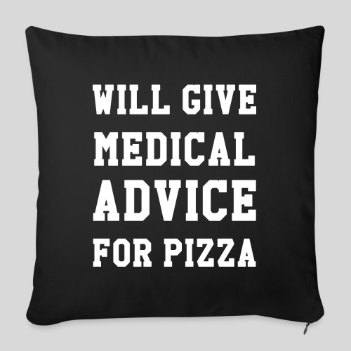 "Pizza - Throw Pillow Cover 18"" x 18"""