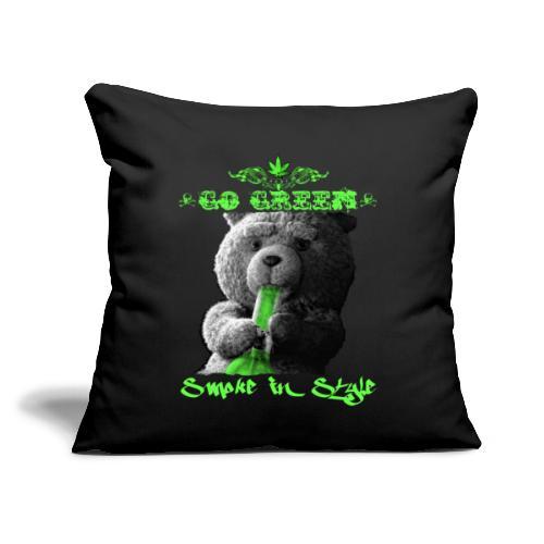 "Go Green 2 - Throw Pillow Cover 17.5"" x 17.5"""