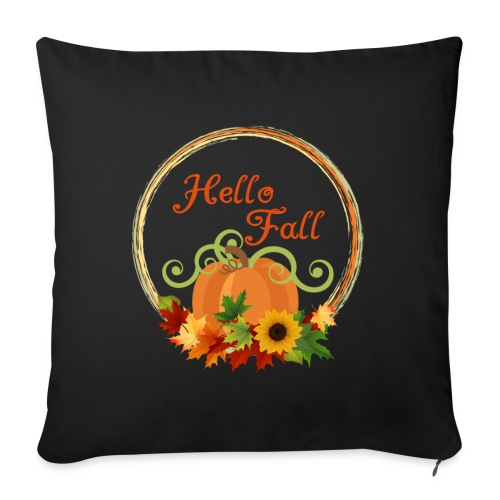 "hello fall - Throw Pillow Cover 18"" x 18"""