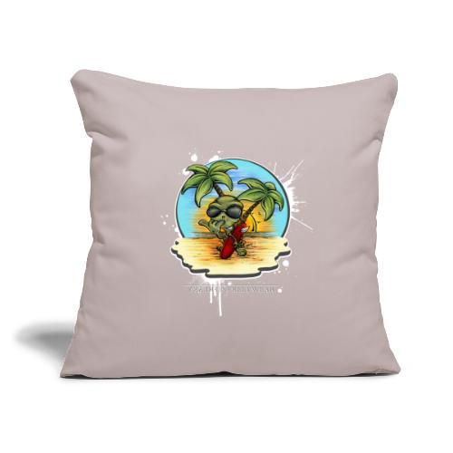 """let's have a safe surf home - Throw Pillow Cover 17.5"""" x 17.5"""""""
