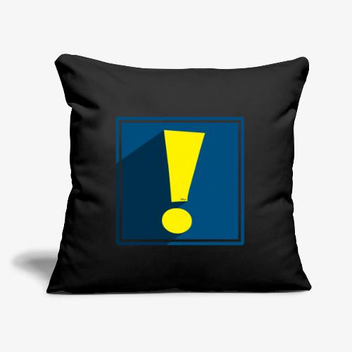 """Whee Shadow Exclamation Point - Throw Pillow Cover 17.5"""" x 17.5"""""""