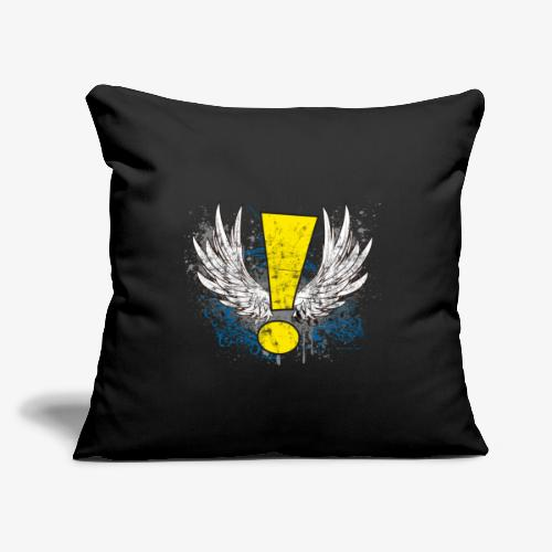 """Winged Whee! Exclamation Point - Throw Pillow Cover 17.5"""" x 17.5"""""""