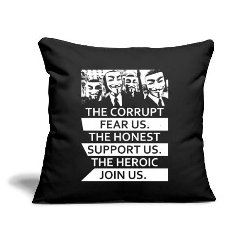 """Anonymous 5 - Throw Pillow Cover 17.5"""" x 17.5"""""""