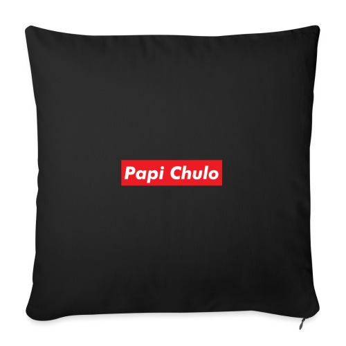 "'Papi Chulo' Coca Cola Inspired Typography - Throw Pillow Cover 17.5"" x 17.5"""