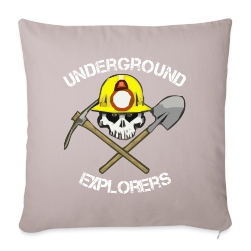 "Miner Logo White Text 08 20 14 png - Throw Pillow Cover 17.5"" x 17.5"""