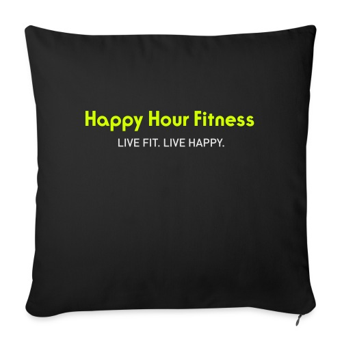 """HHF_logotypeandtag - Throw Pillow Cover 17.5"""" x 17.5"""""""