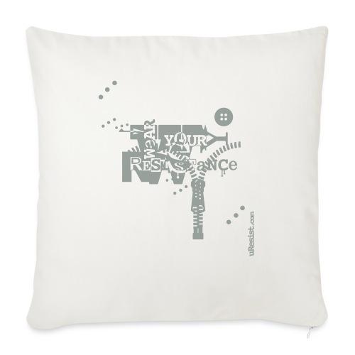 "Wear Your Resistance 2013 03 01 Zipper - Throw Pillow Cover 17.5"" x 17.5"""