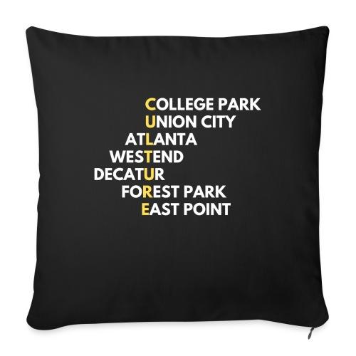 "Culture Atlanta - Throw Pillow Cover 18"" x 18"""
