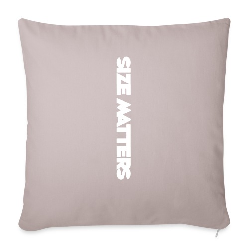 "SIZEMATTERSVERTICAL - Throw Pillow Cover 17.5"" x 17.5"""