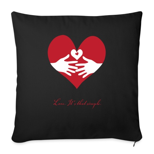 """Love - Throw Pillow Cover 17.5"""" x 17.5"""""""