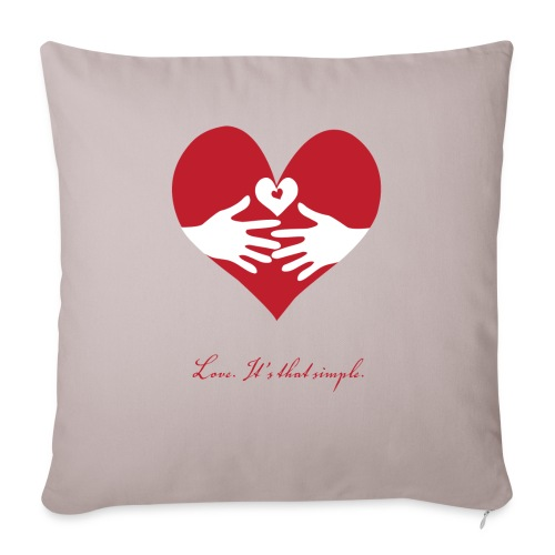 "Love - Throw Pillow Cover 17.5"" x 17.5"""