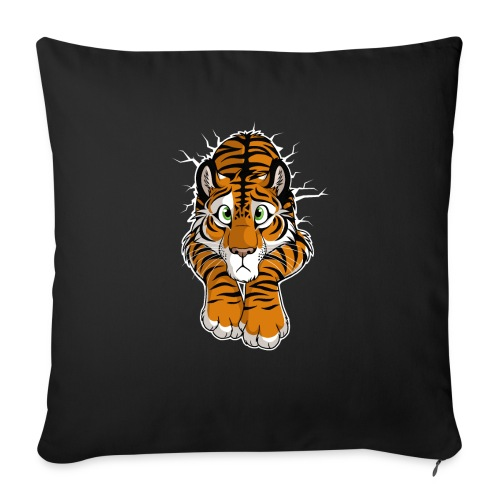 """STUCK Tiger Orange (double-sided) - Throw Pillow Cover 17.5"""" x 17.5"""""""