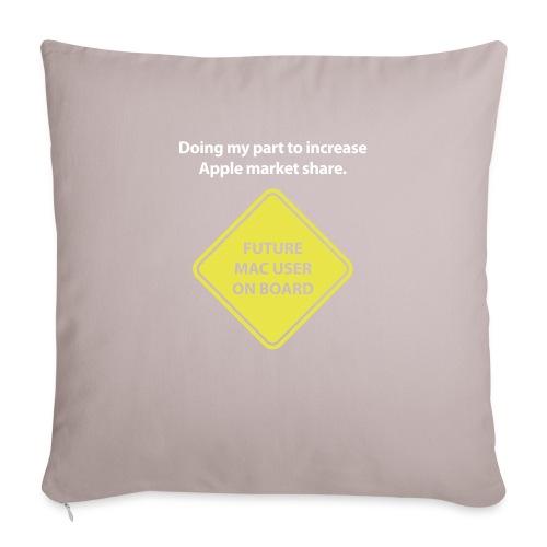"macuseronboard - Throw Pillow Cover 17.5"" x 17.5"""