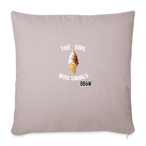 "Girl Who Swirch totoe bag - Throw Pillow Cover 17.5"" x 17.5"""